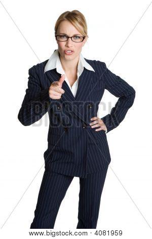 Accusing Businesswoman