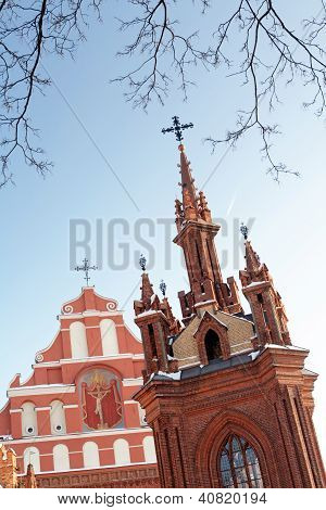St. Anne's And Bernadine's Churches In Vilnius