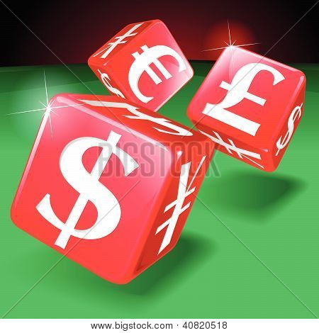 Financial Gambling Money Dice