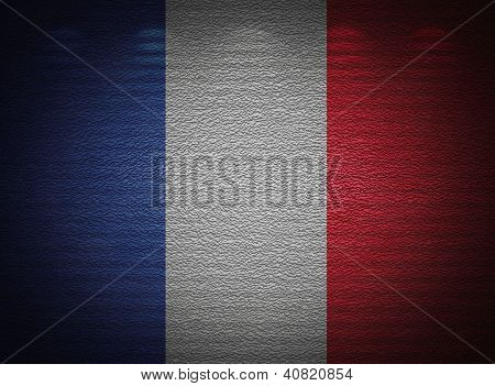 French Flag Wall, Abstract Grunge Background