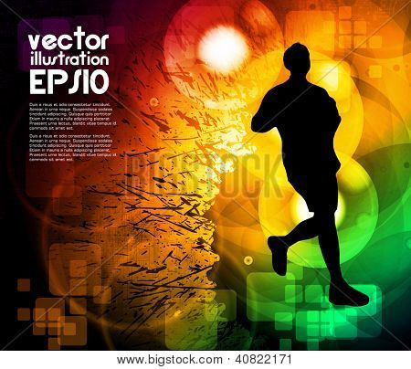 Sport poster. Vector illustration