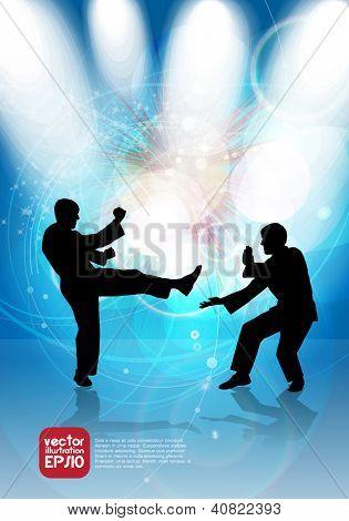 Karate. Vector illustration