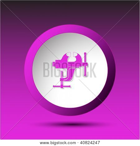 Clamp. Plastic button. Vector illustration.