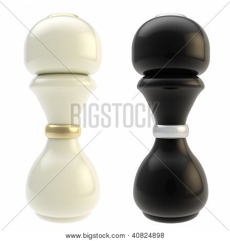 Salt Cellar And Pepper Shaker Isolated