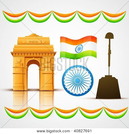 vector patriotic indian elements