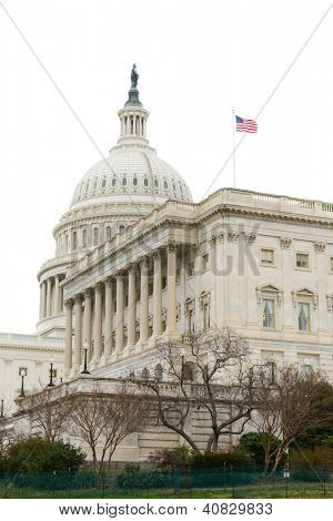 US Capitol Building with white background
