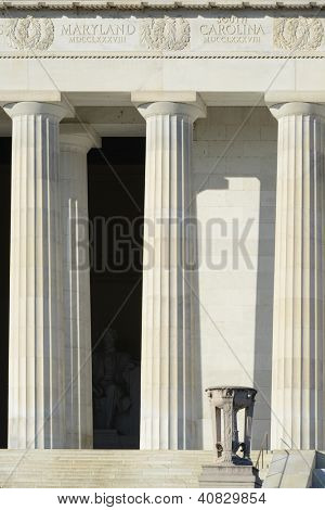 Washington DC - Abraham Lincoln Memorial - architectural details