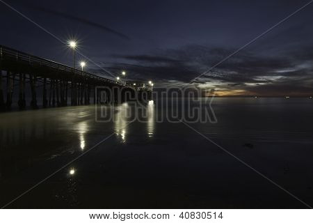 Ocean Pier At Twilight
