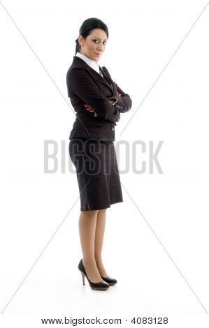 Young Lawyer With Crossed Arms