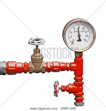 Old Pipes And Valves - High Pressure Supply