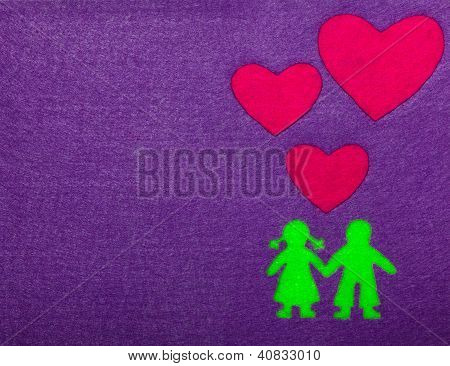 Boy and Girl in Love Silhouette