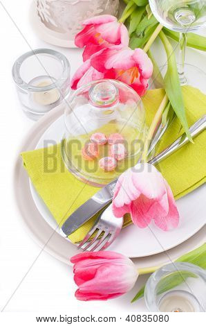 Festive Spring Table Setting