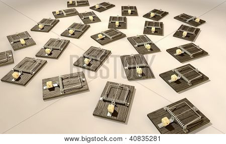Mousetraps With Cheese Array Far