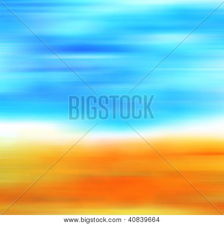 Abstract Hand Drawn Paint Background: Fall Landscape With Yellow