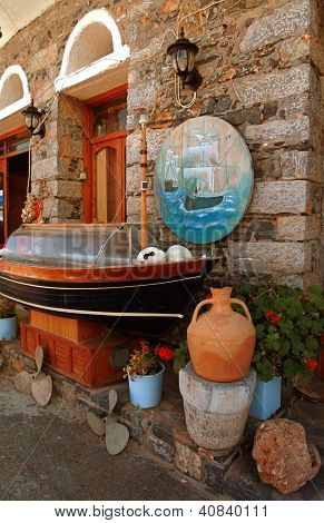 Old Stone Rural House With Decoration(Greece)