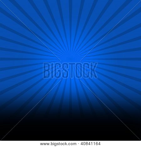 Dark blue background with black burst