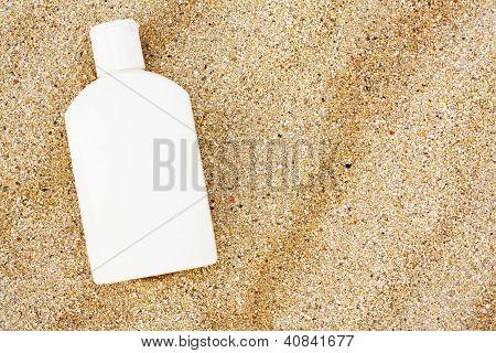 Sun Block On The Beach