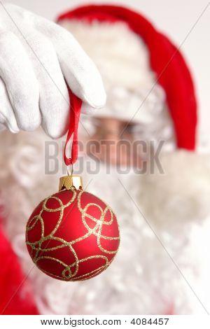 Santa With Xmas Ball