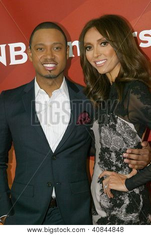 PASADENA, CA - JAN. 7: Terrence Jenkins and Giuliana Rancic arrive at the NBCUniversal 2013 Winter Press Tour at Langham Huntington Hotel & Spa on January 7, 2013 in Pasadena, California