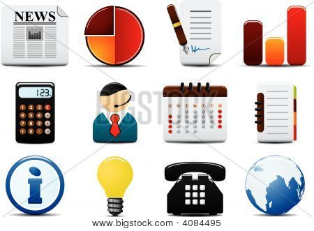 Finance Vector Icons set zwei