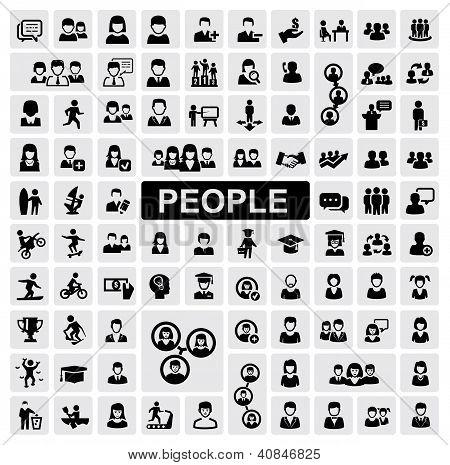 ícones de pessoas