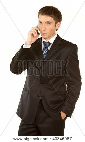Business Man Making A Phone Call