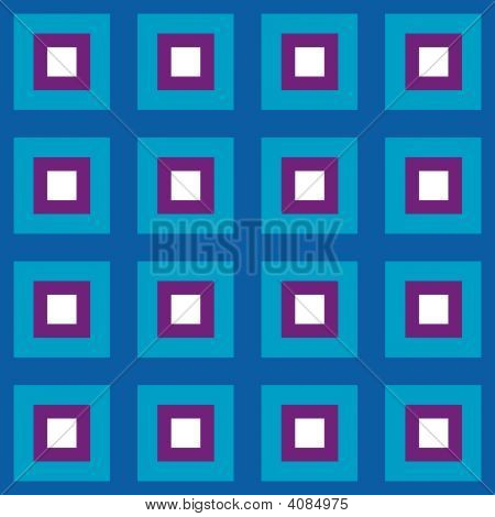 Blue Squares Seamless Pattern