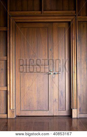 Teak Doors.