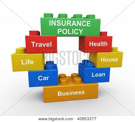 3D Insurance Policy Child Toy Block