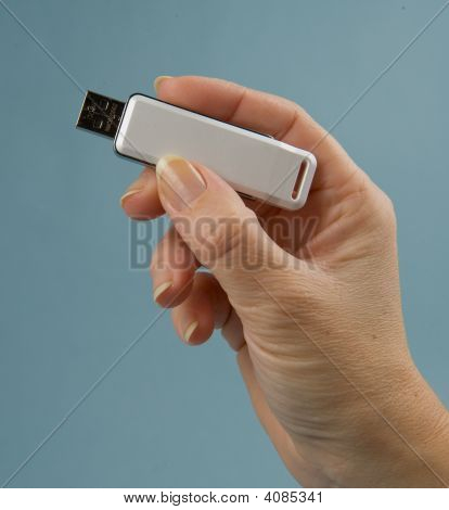 Hand With Usb Key
