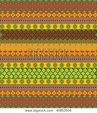 Bright aztec pattern vector
