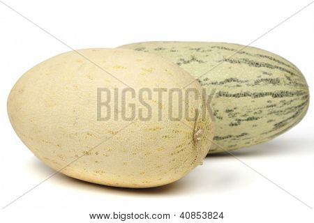 torped melon isolated on white