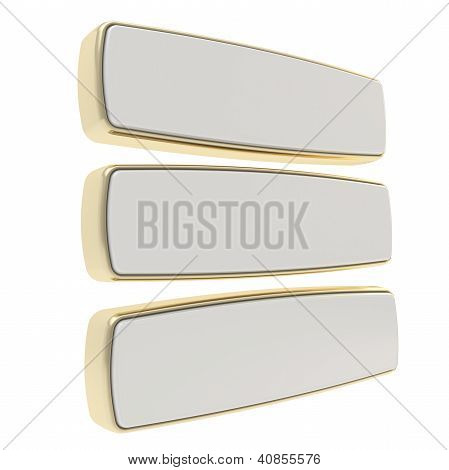 Target Aim Glossy Mark With Darts Isolated On White
