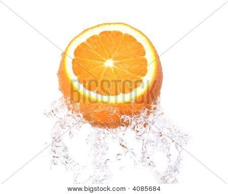 Orange Fruit In Splash