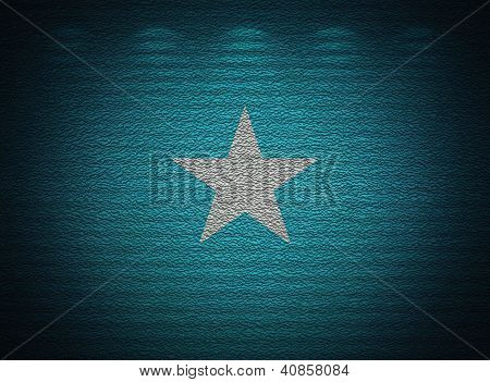 Somalian Flag Wall, Abstract Grunge Background