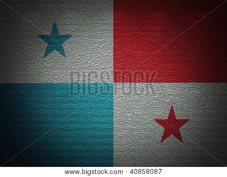 Panamanian Flag Wall, Abstract Grunge Background