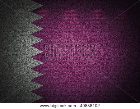 Qatari Flag Wall, Abstract Grunge Background