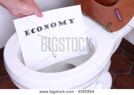 Economy In The Toilet