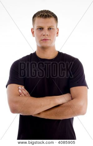 Handsome Male With Crossed Arms