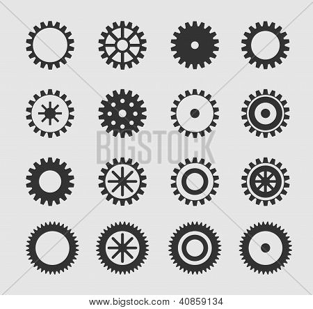Vector black gearwheel
