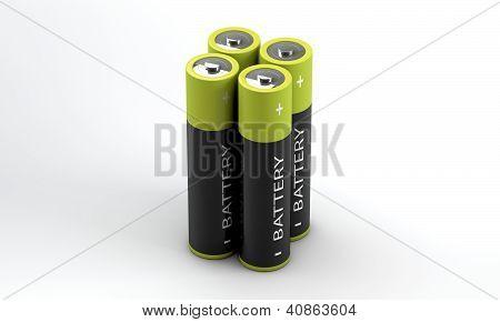 Four Batteries