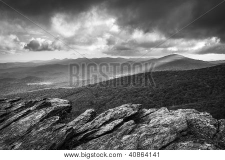 Blue Ridge Parkway Grandfather Mountain Rough Ridge Scenic Landscape Overlook