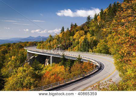 Blue Ridge Parkway Linn Cove Viaduct North Carolina Appalachian Landscape