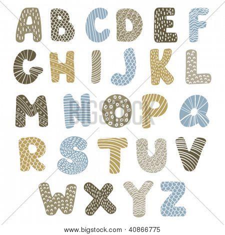 doodle latin alphabet