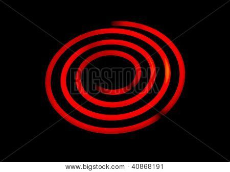 Glowing Electric Stove Spiral