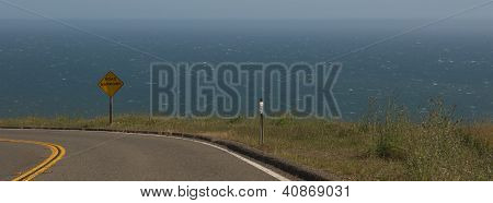 Coastal road curves away