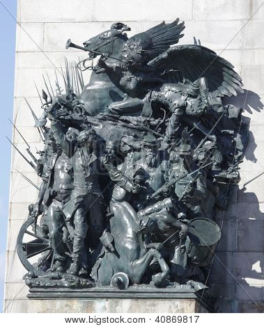 Spirit of the Army sculpture at Grand Army Plaza