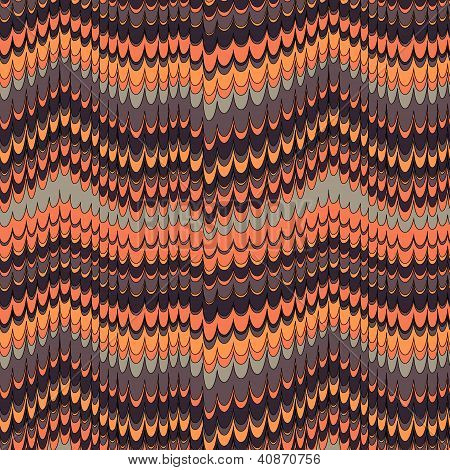 Paint flowing seamless pattern, vector