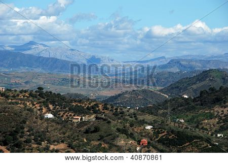 Andalusian countryside, Monda, Andalusia, Spain.