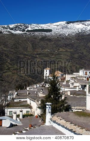 Town rooftops, Bubion, Andalusia, Spain.